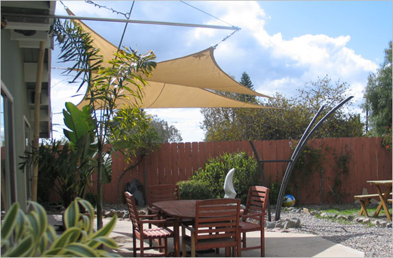 Delightful Title: Shade Medium: Canvas And Steel. Size: Patio Is 15u0027 Wide. The  Supporting Sculpture Is 8u0027 Tall And 3u0027 Wide At The Center.